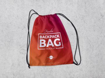 Backpack Bag - FREE PSD Mockup