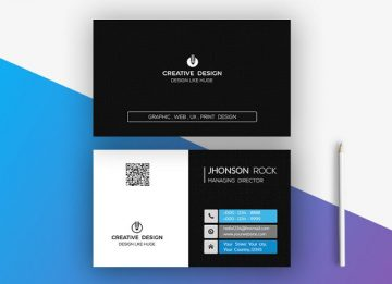 Professional Business Card - Free PSD Template