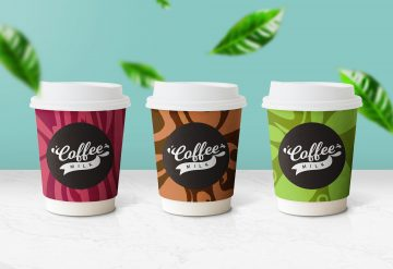 Paper Coffee Cup - Free PSD Mockup