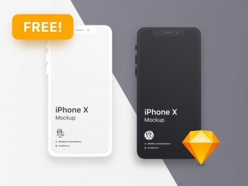 iPhone X Clean - Free PSD Mockups