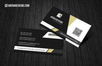Corporate Black & White Business Card - Free Template