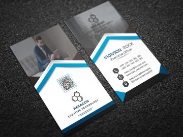 Free Vertical Business Card - Download PSD Templates
