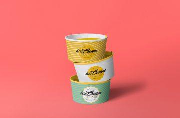 Yummy Ice Cream Cup - Free PSD Mockup