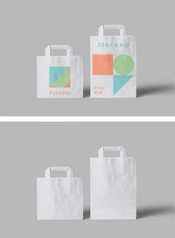 Paper Bag - Free PSD Mockup