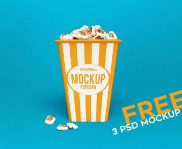 Popcorn Package - Free PSD Mockups