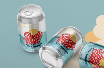 Soft Drink Can - Free PSD Mockup