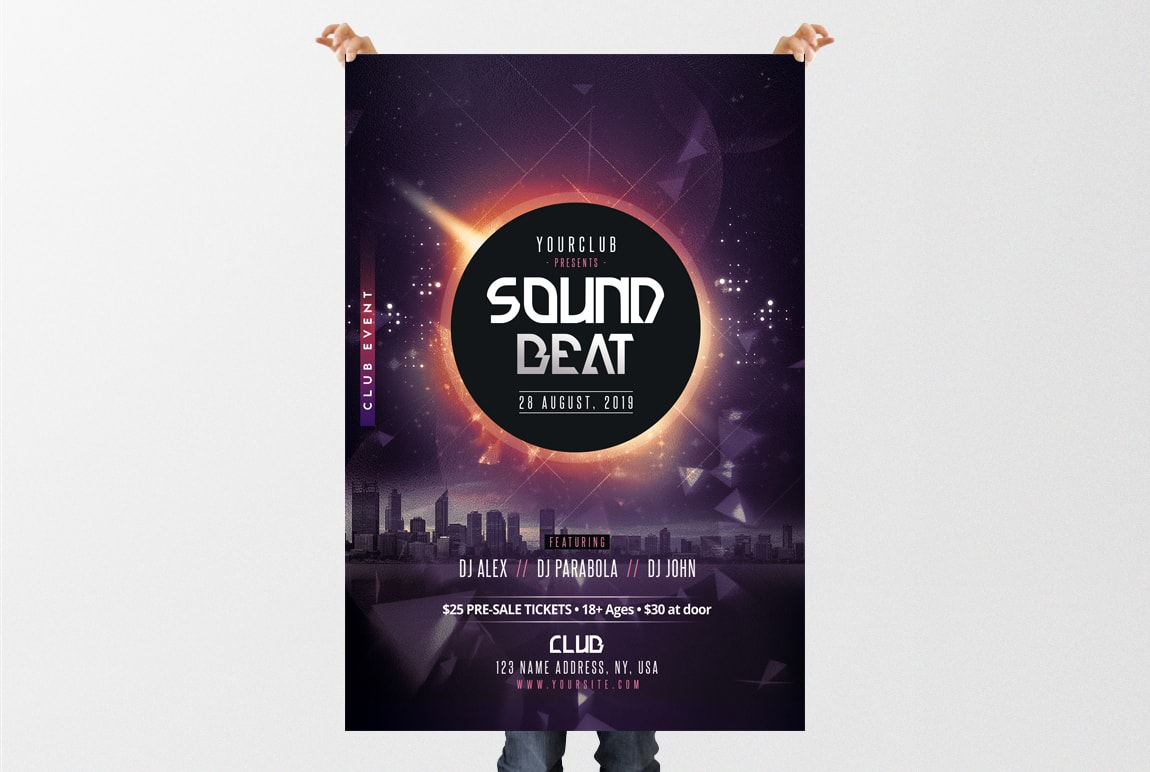 Sound Beat – Free DJ PSD Flyer Template