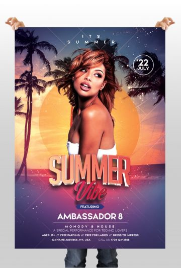 Summer Vibe - Free PSD Flyer Template