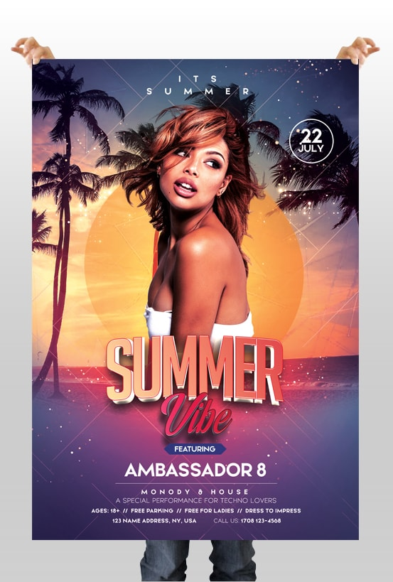 Summer Vibe – Free PSD Flyer Template