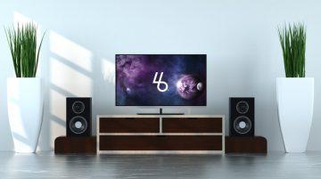 TV Screen - Free PSD Mockup