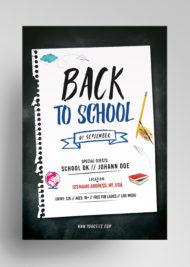 Back to School - Free PSD Flyer Template