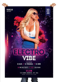 Electro Vibe - Free Photoshop Flyer Template