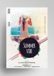 Summer Vibe - Free PSD Flyer/Poster Template