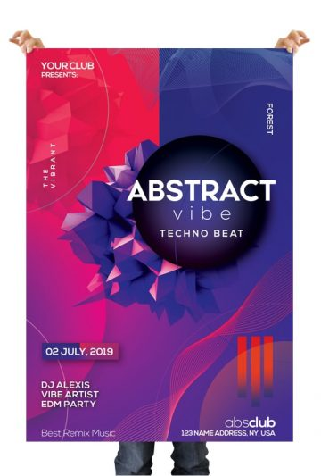 Abstract - Free Futuristic PSD Flyer Template