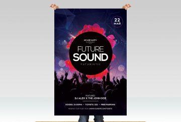 Futuristic EDM - Free PSD Flyer Template