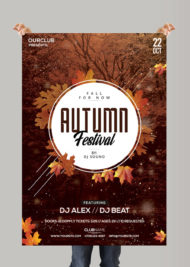 Autumn Festival - Free PSD Flyer Template
