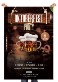 Oktoberfest - Free Photoshop PSD Flyer Template
