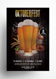 Oktoberfest Party - Free PSD Flyer Template