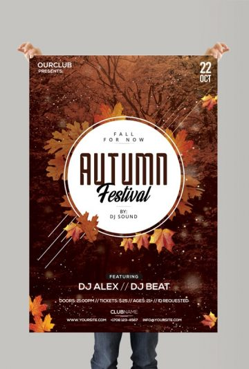 Autumn Festival - Free PSD Flyer Template