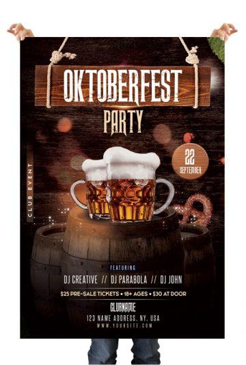 Oktoberfest - Free Photoshop PSD Flyer Template
