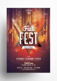 Fall Fest - Download Free Autumn PSD Flyer Template