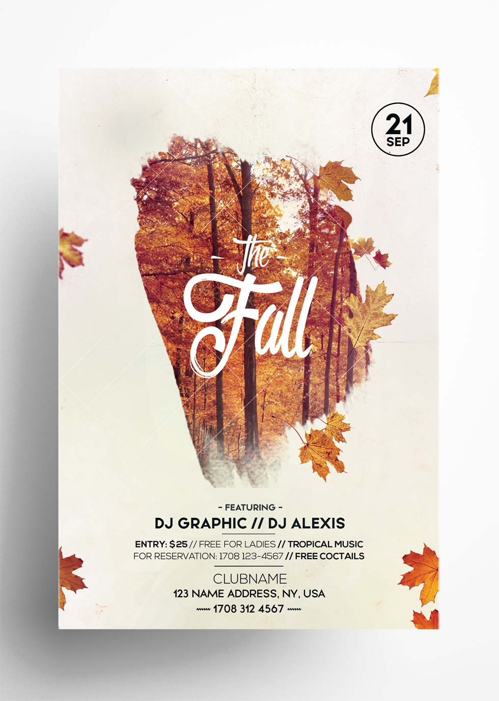 Fall Festival Autumn – Free PSD Flyer Template