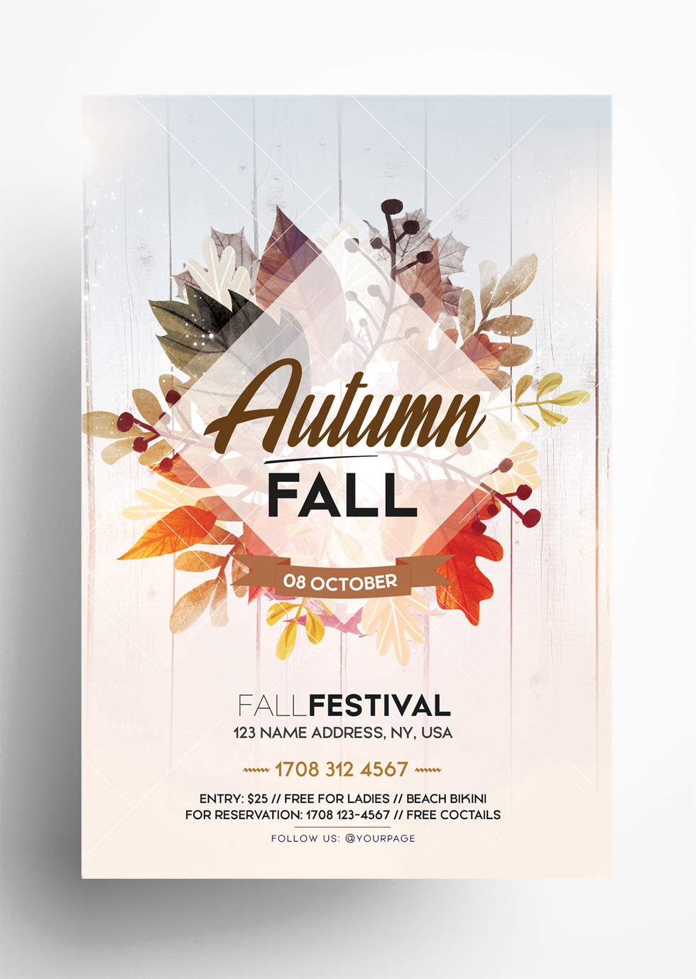 Fall Festival - Autumn Free PSD Flyer Template