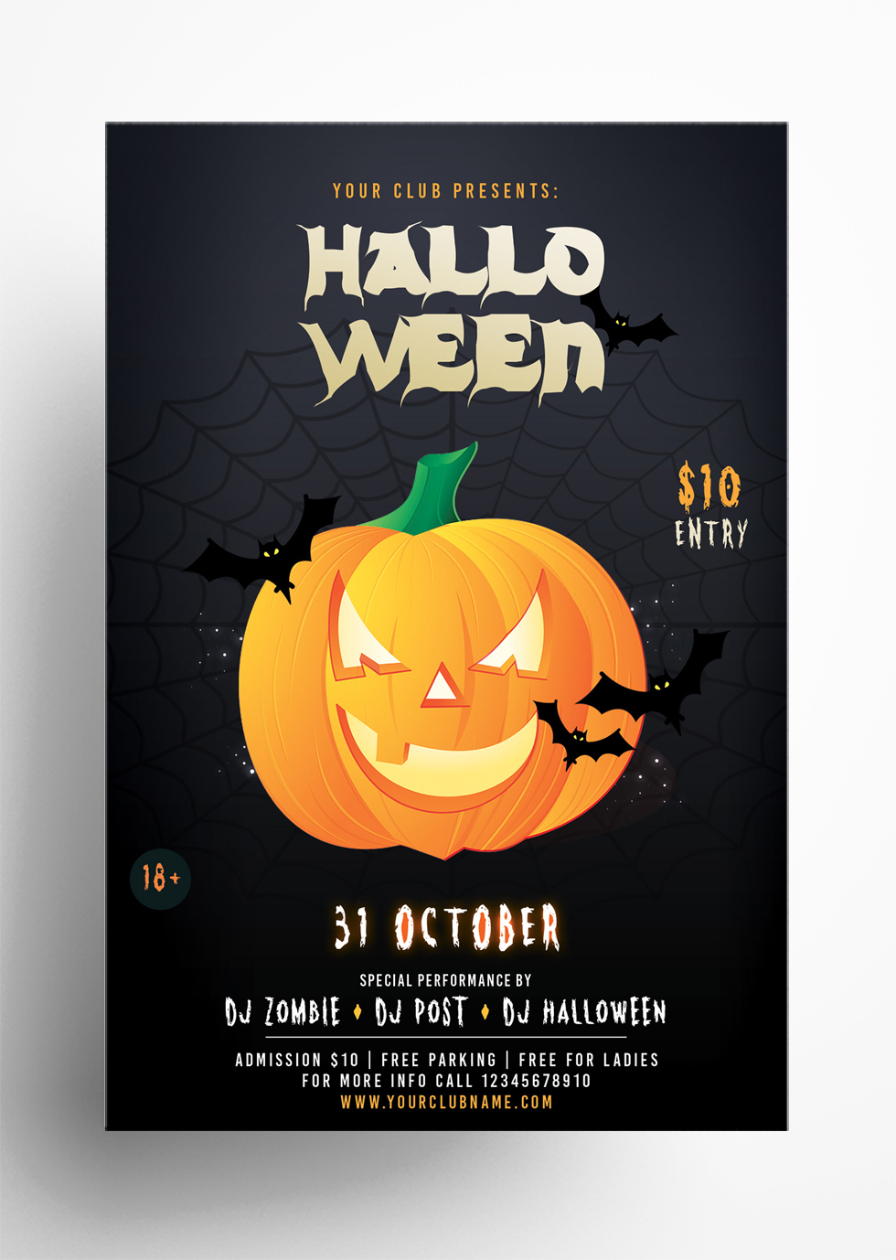 Halloween Party – Download Free PSD Flyer Template