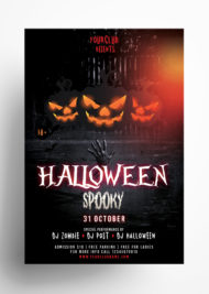 Halloween Spooky - Download Free PSD Flyer Template