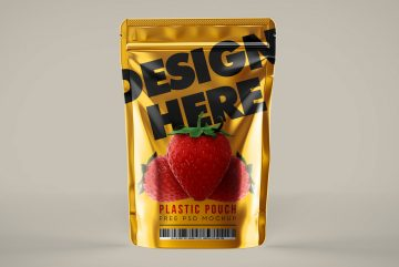 Plastic Pouch - Free Label PSD Mockups