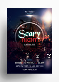Scary Night - Free Halloween PSD Flyer Template