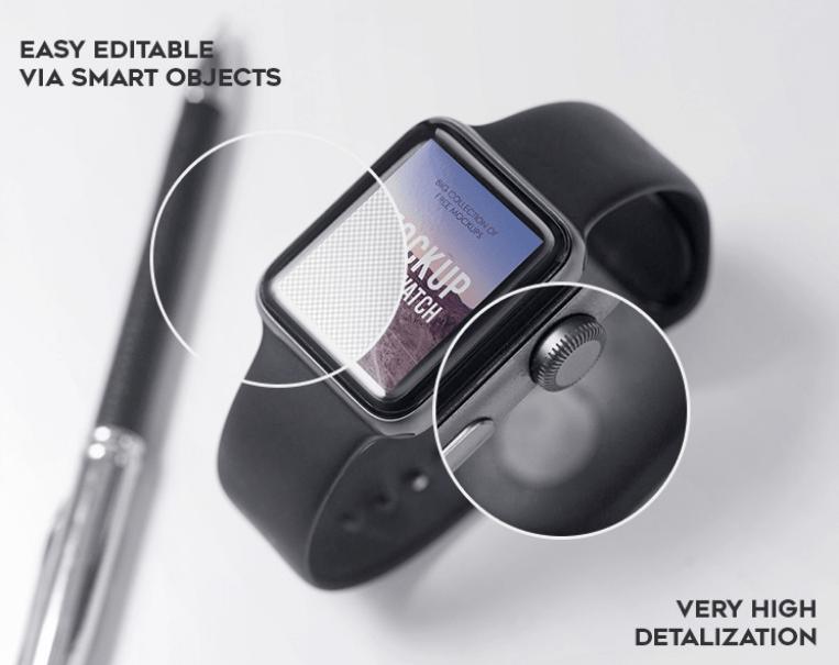 Apple Watch Vol.2 – Free PSD Mockup