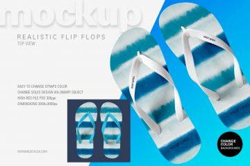 Flip Flop (Top View) - Free PSD Mockup