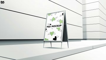 Banner Road Side - Free PSD Mockup