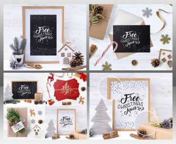 Christmas Bundle - Free PSD Mockups