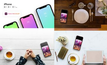 iPhone XS, XR and XS Max - Free PSD Mockup