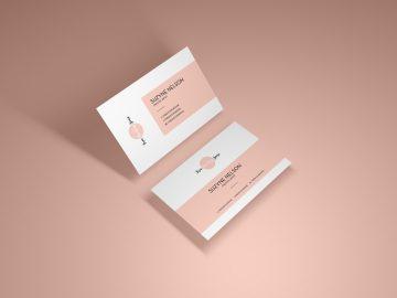 Modern Presentation Business Card - Free PSD Mockup