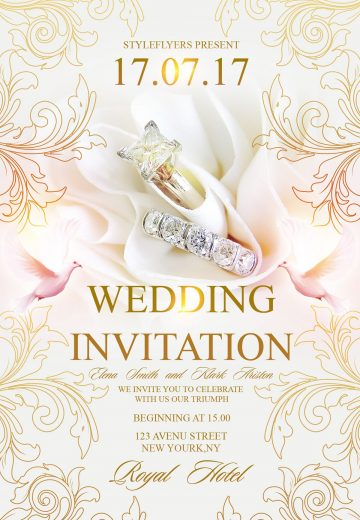 Wedding Invitation - Download Free PSD Template