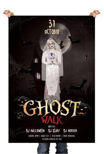 Ghost Walk - Halloween Free PSD Flyer Template