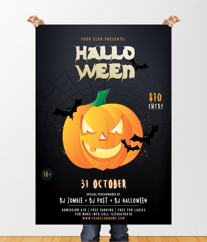 Halloween Party Download Free Psd Flyer Template Pixelsdesign
