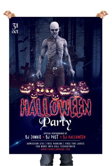 Halloween Party - Free PSD Flyer/Poster Template
