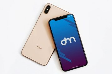iPhone XS Gold Mockup - Free PSD Mockups