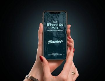 iPhone Xs Max Female Hand - Free PSD Mockup