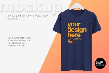 Free Realistic T-Shirt Mockup - Freebie PSD Mockups