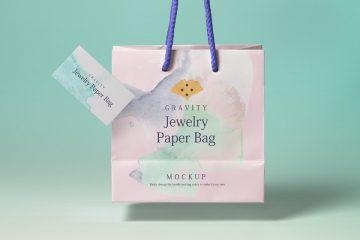 Gravity Shopping Bag - Free PSD Mockup