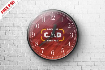 Wall Clock - Download Free PSD Mockup