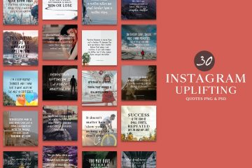 30 Instagram Uplifting Quotes - Free PNG & PSD Templates