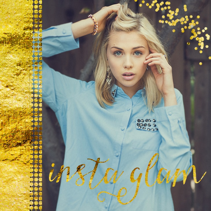 4 Glam Instagram Posts – Free PSD Templates