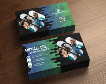 Agency Business Card Free PSD Template