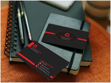 Black Business Card - PSD Free Template